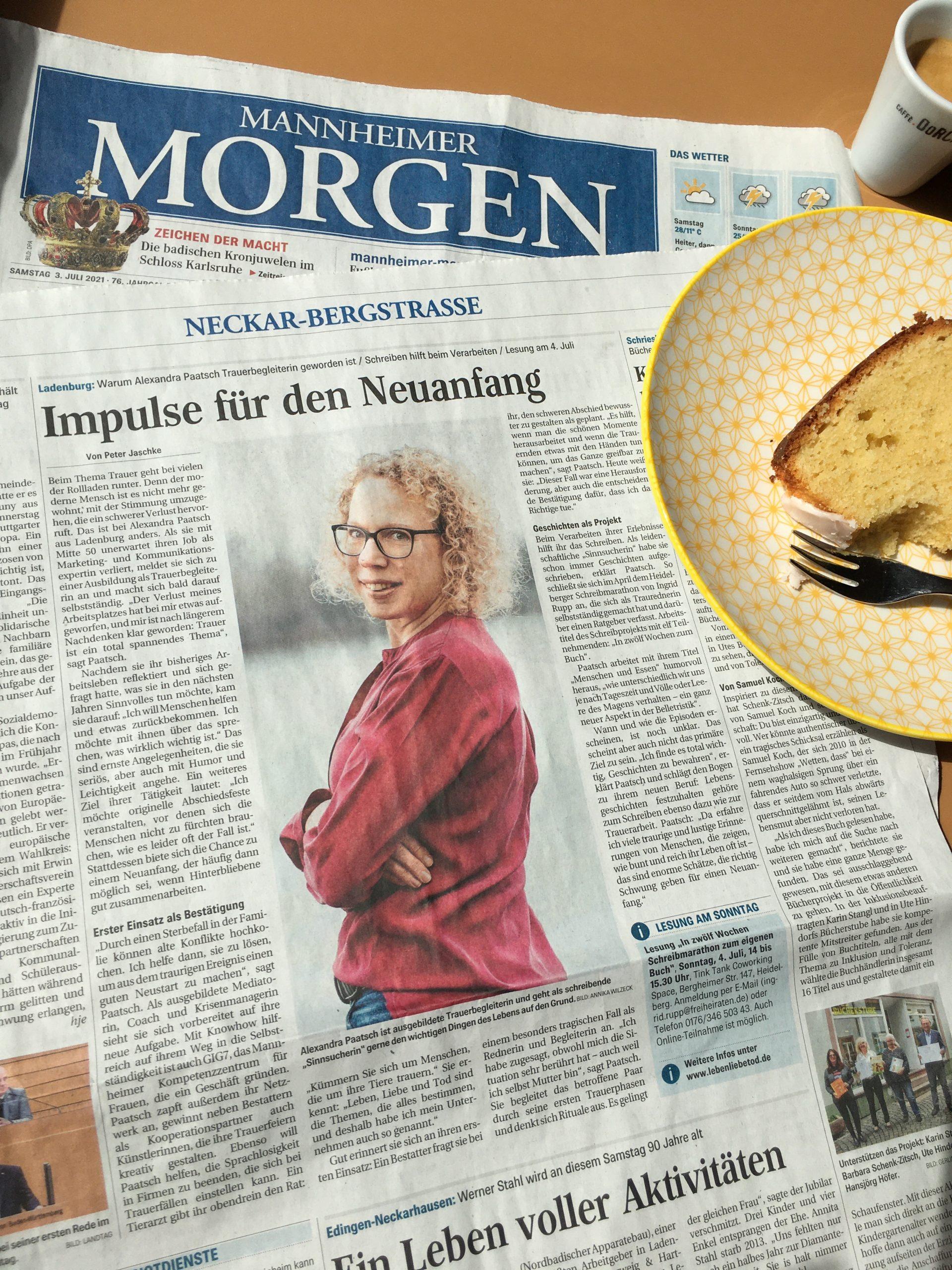 Artikel im Mannheimer Morgen